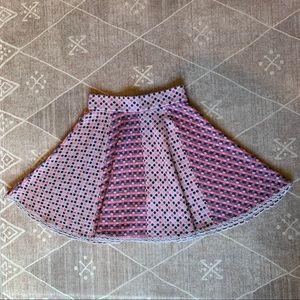 Anthropologie Dancing Dots Skirt